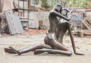 Bildhauer Werkstatt stahlwerk Thomas Huber