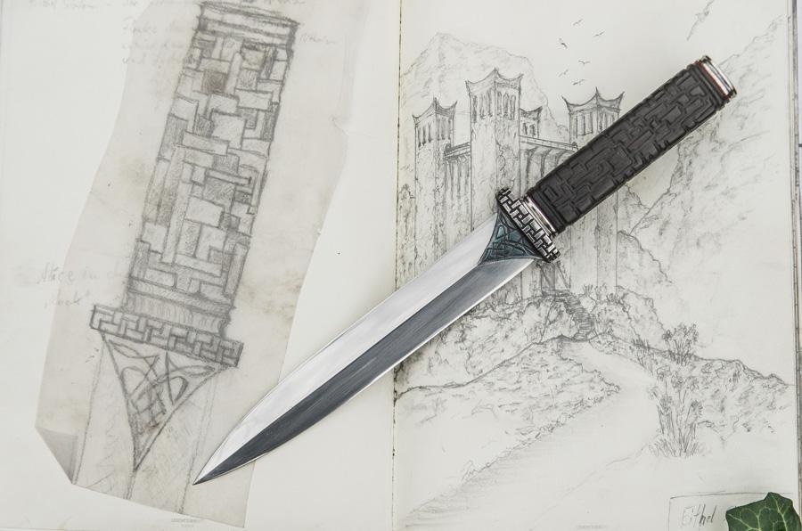 Skizze und Messer