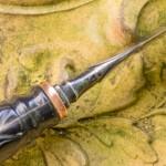 1.24.42 Messer mit Büffelhorn Griff