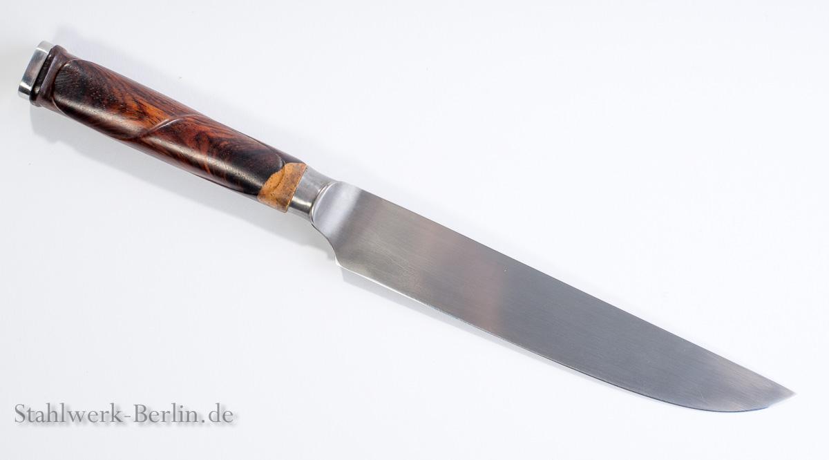 Küchenmesser mit Beschnitzung, Cocobolo, Silberstahl