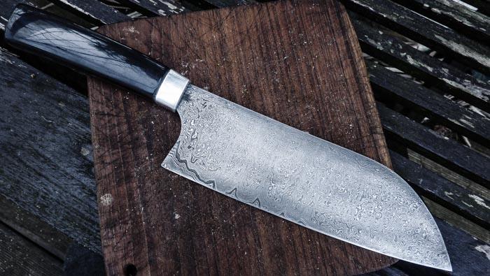 Damast Messer Kuechenmesser Kochmesser