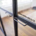 Stahl Glas Trennwand Griffe