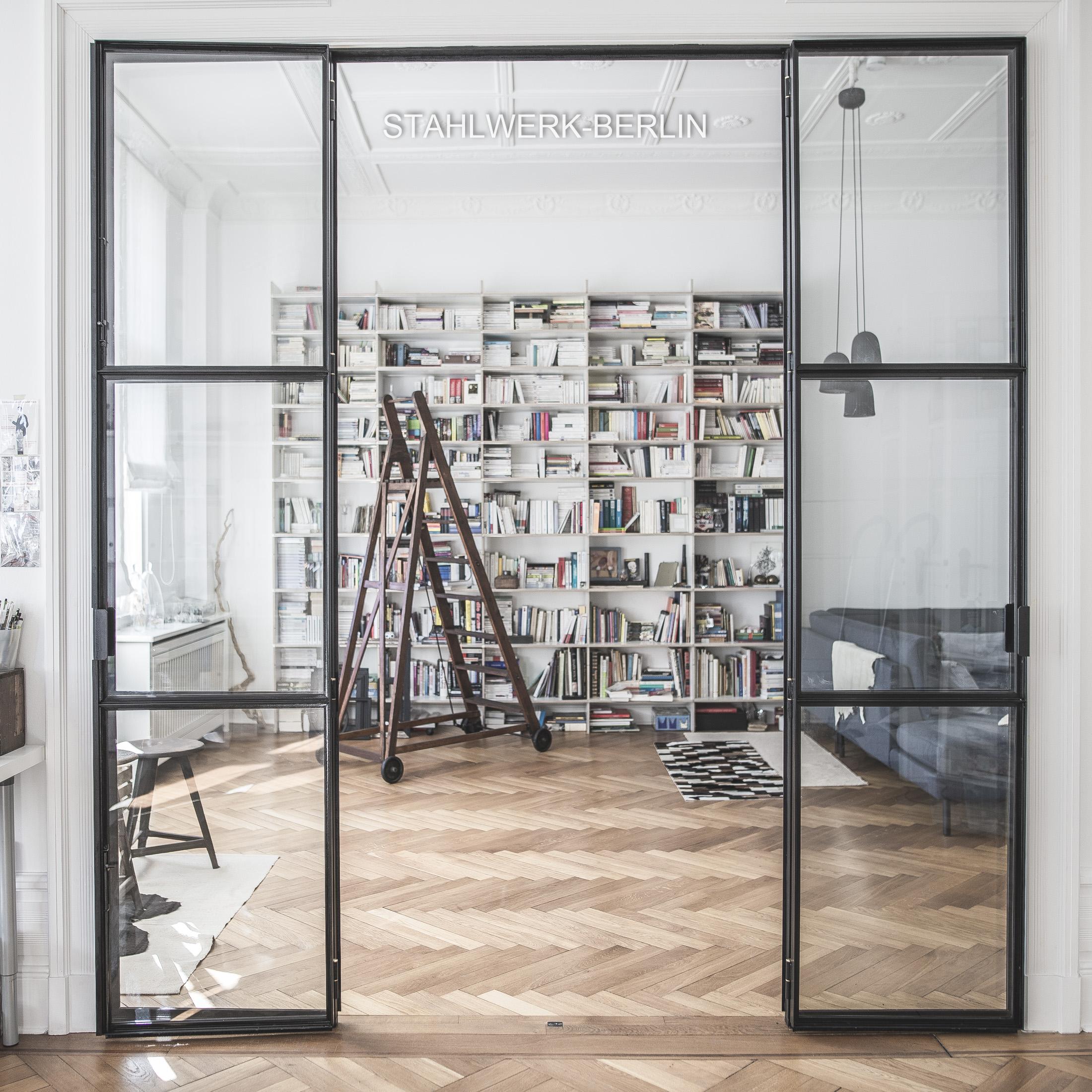Stahltür, Stahl Glas Tür