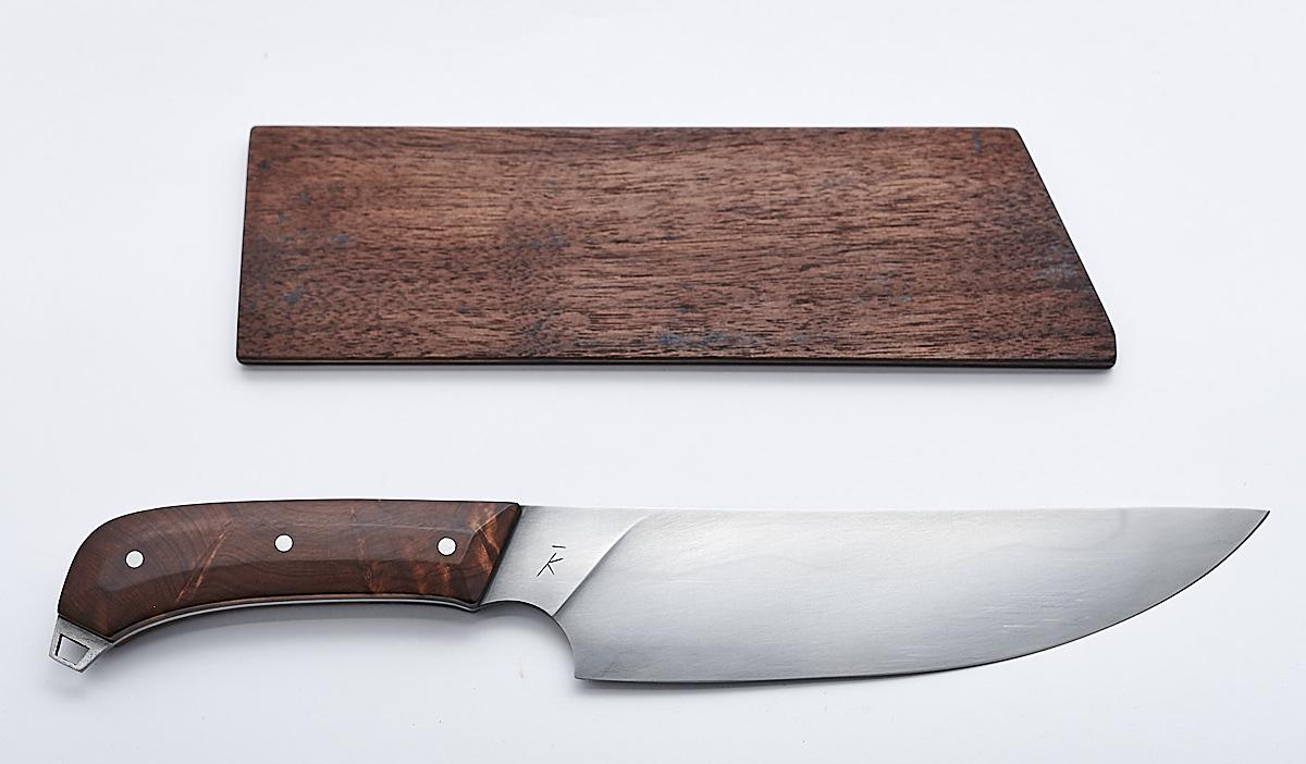 handgemachtes Küchenmesser mit Holzgriff
